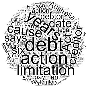 how long can a debt be chased in Australia