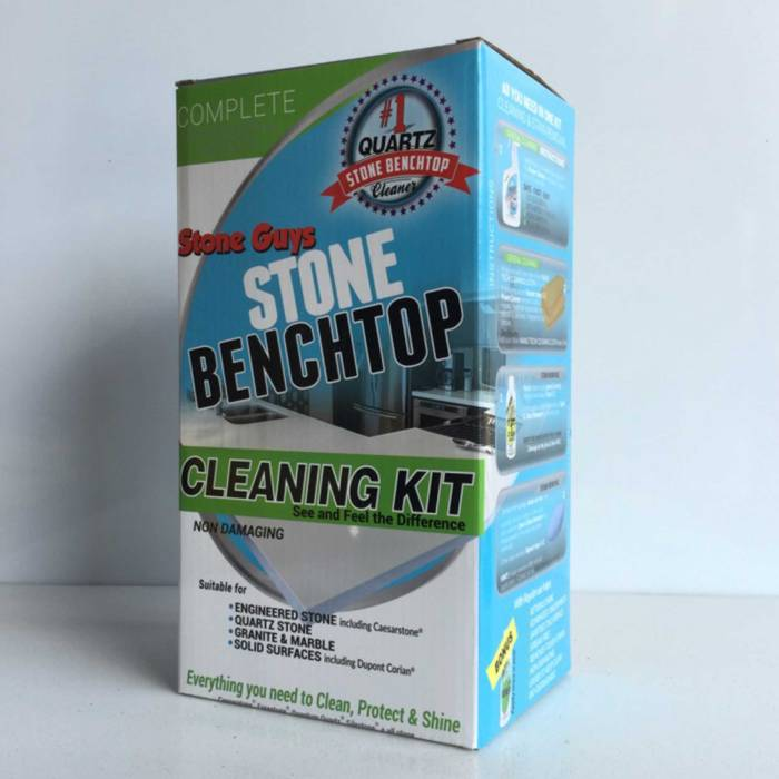 stone benchtop cleaner kit bunnings coles woolworths complete-stone-benchtop-cleaning-kit