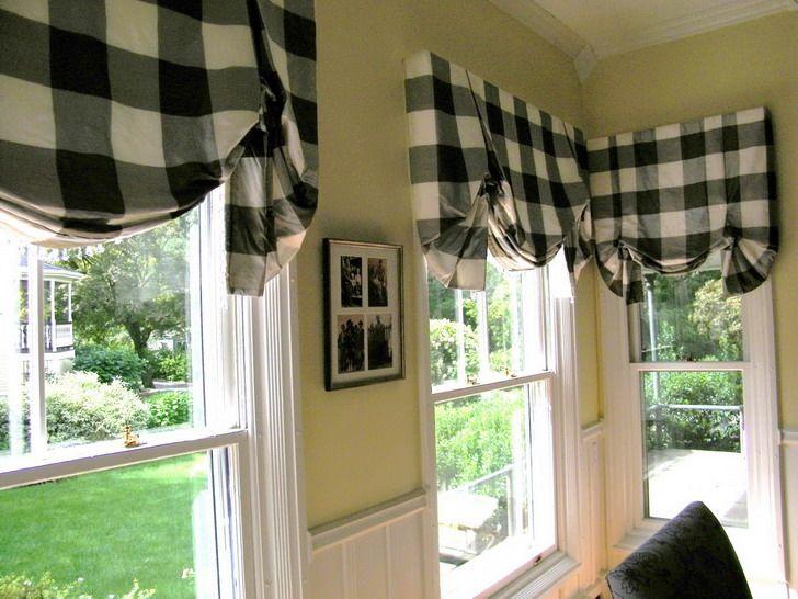 Valance Black And White Kitchen Curtains Novocom Top