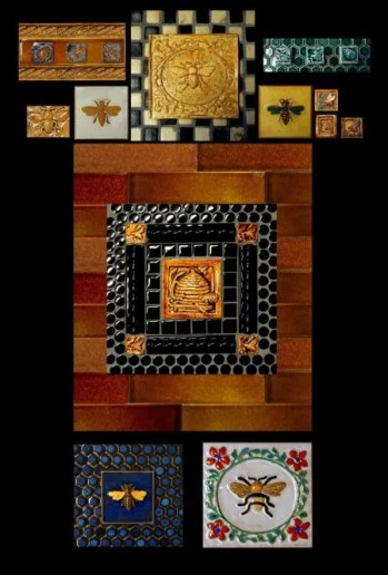 Stonelight Tile Inc San Jose CA Custom Tile assorted-bees: