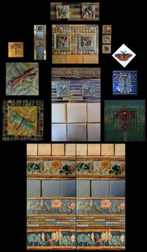 Stonelight Tile Inc San Jose CA Custom Tile dragonflys-butterflys:
