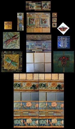 Stonelight Tile Inc San Jose CA Custom Tile dragonflys-butterflys: