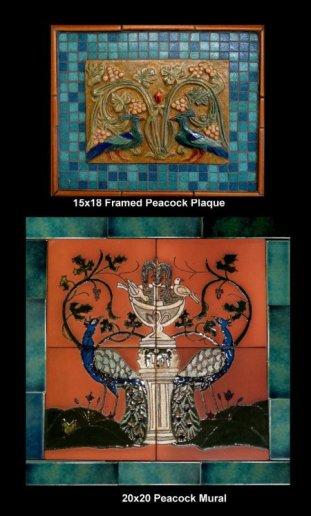 Stonelight Tile San Jose CA Custom Tile  peacock-medallion-and-mural: