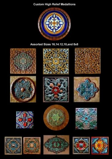 Stonelight Tile Inc San Jose CA Custom Tile relief-medallions: