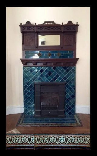cristi's fireplace arabesque tiles and liners