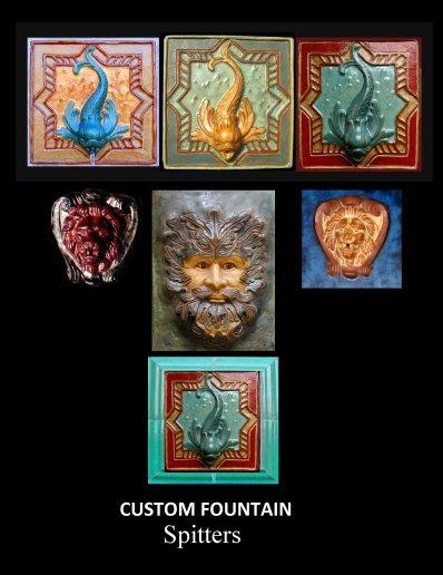 custom fountain spitters