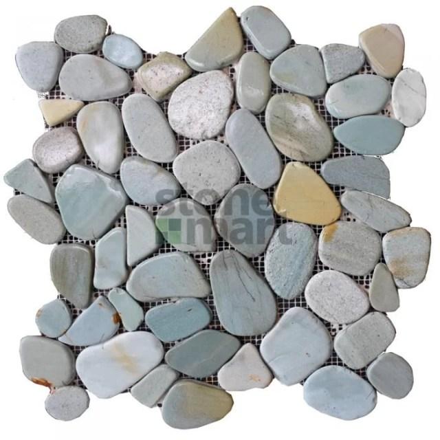 Green Sliced Pebble Tile