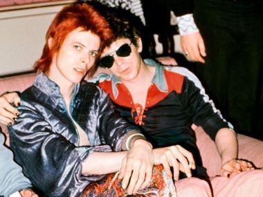 FOTO DISCO 2 (TRANSFORMER) mick+rock_david+bowie_lou+reed_dorchester+hotel+london