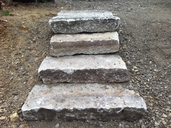 Reclaimed Granite Stepping Stones