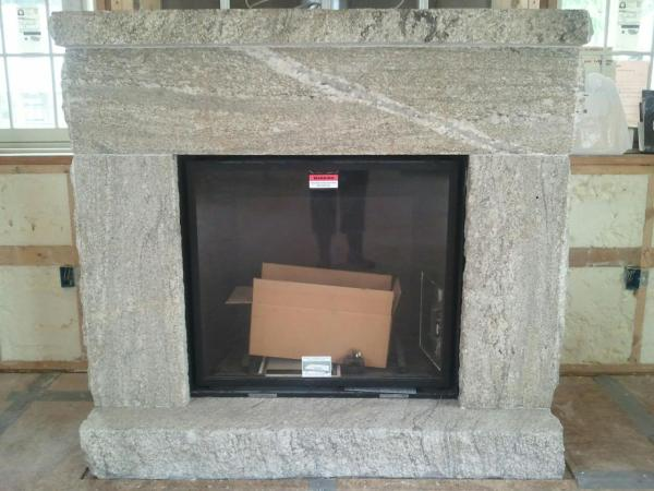 Granite Fireplace Surround , Hearth, and Mantle