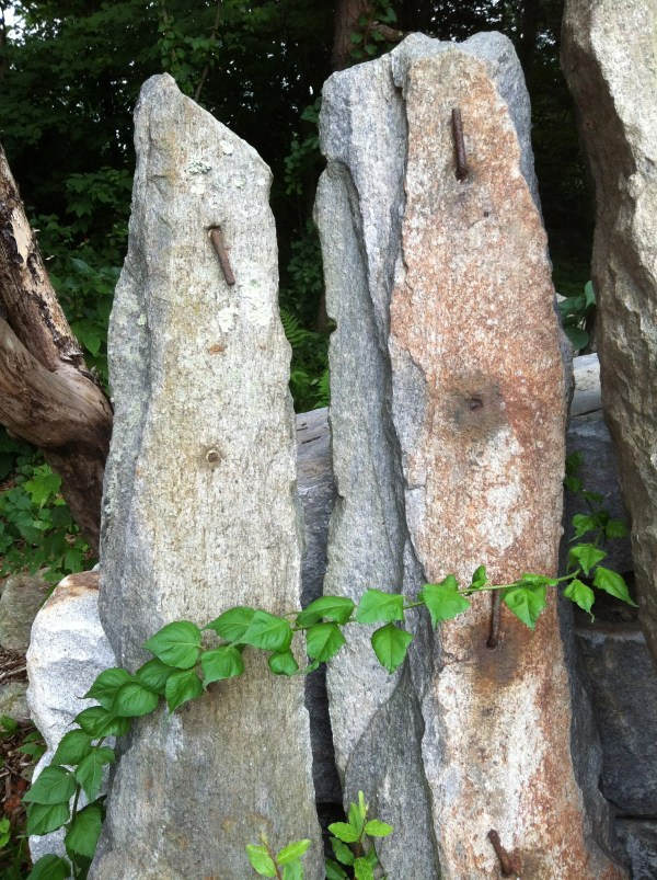Reclaimed Farm Posts - Fieldstone w/ Iron