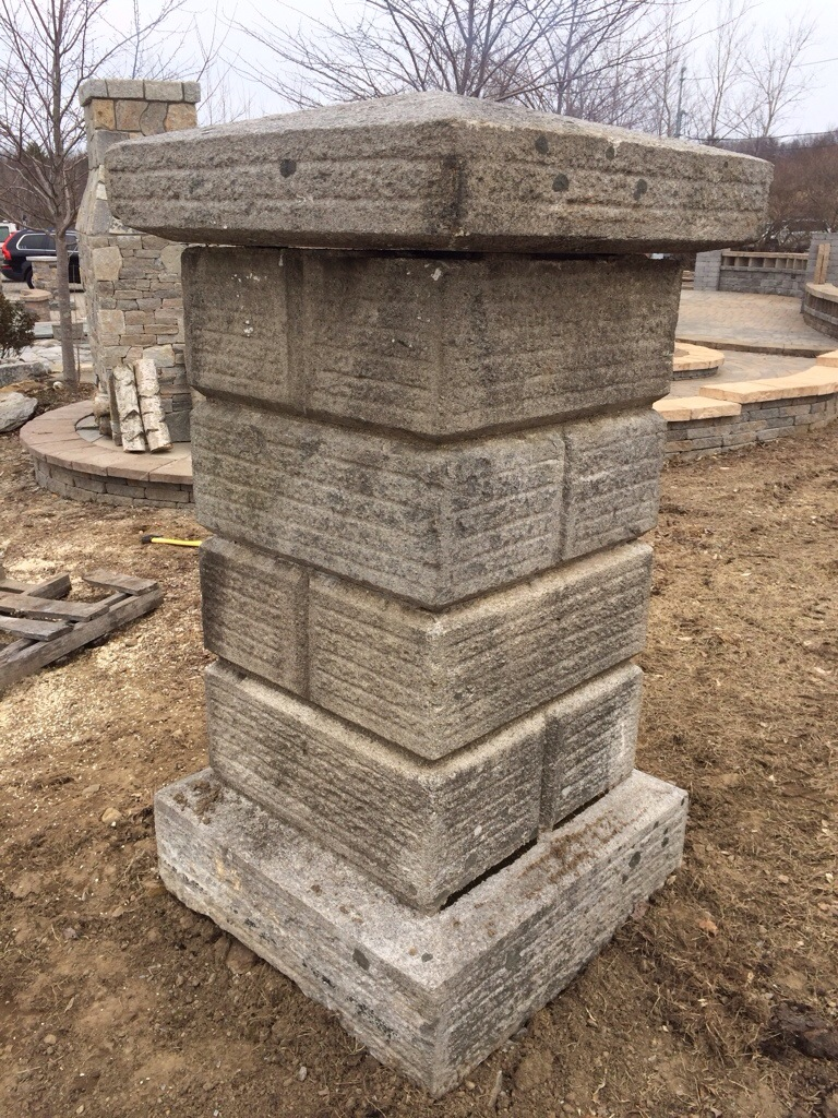Large Granite Pillars
