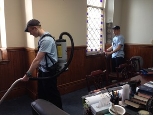 H. C. Students Cleaning Church 01-21-17