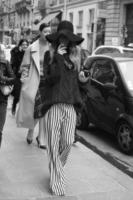 Wide Brimmed Hat & Pinstripe Pants
