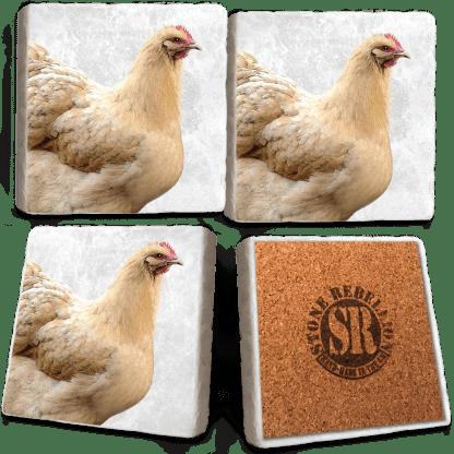 Chicken Marble Coaster Set