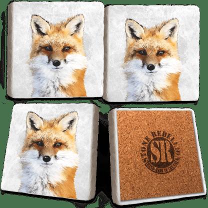 Fox Marble Coaster Set