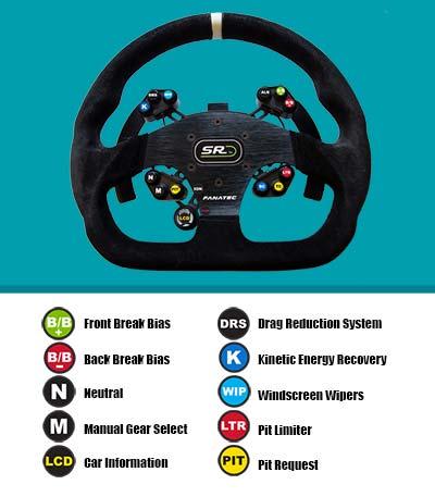 GT Touring car steering wheel