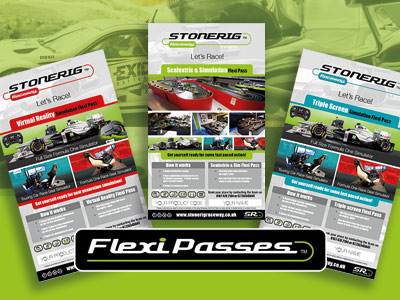Flexi Passes Scalextric and simulation