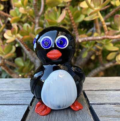penguin glass smoking pipe
