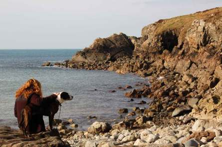 Dog Friendly Accommodation in Pembrokeshire Views of the local area, Aber Bach Beach near Stones Cottages.