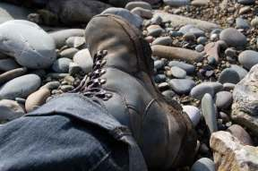 Talking a relaxing walk from Stones Cottages in Pembrokeshire.