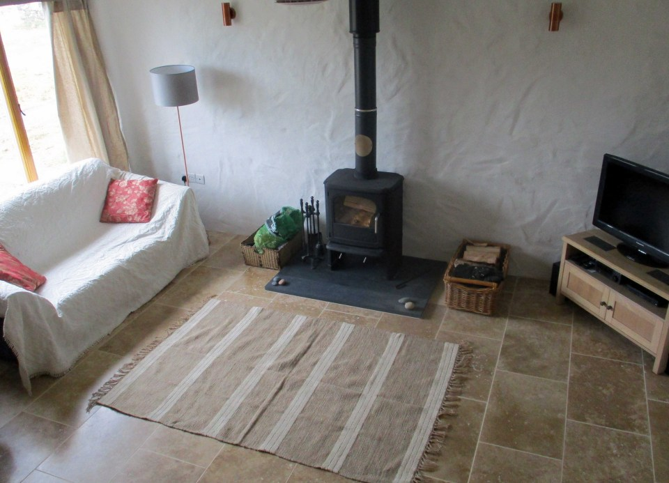 Comfy sofas, log burner, tv and stereo. Sit back and relax after a days exploring.