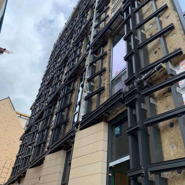 Stonescreen aluminium structure with Aerolite© panels
