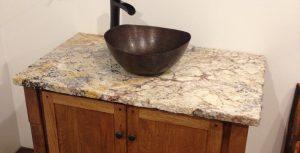 Granite Bathroom Vanity Top With Rock Edge
