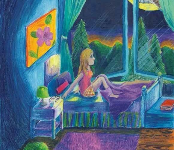 the scream in the night awake bed