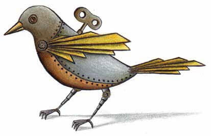 dancing birds mechanical bird