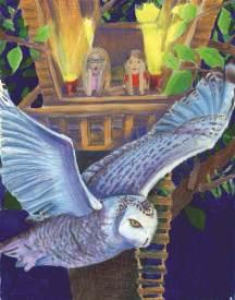 the scream in the night stare owl