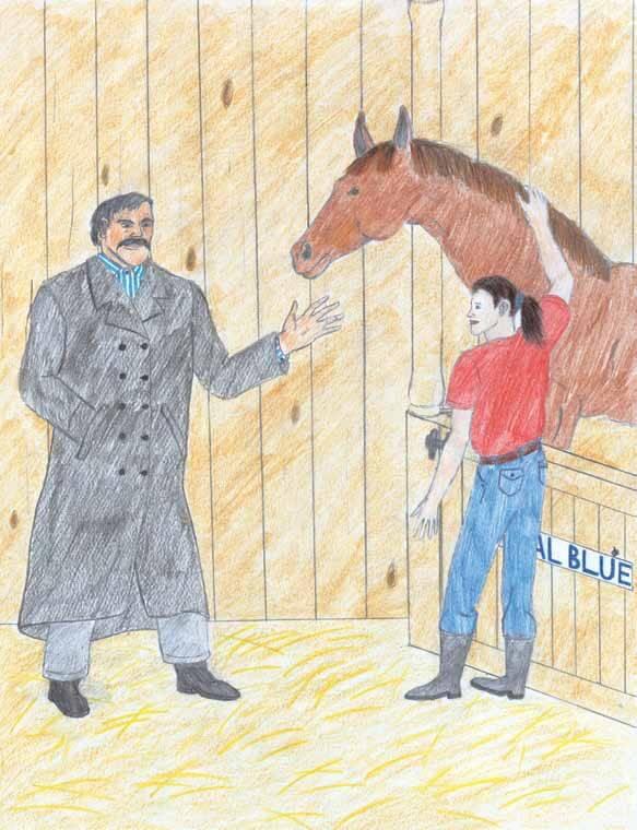 Royal Blue racing horse
