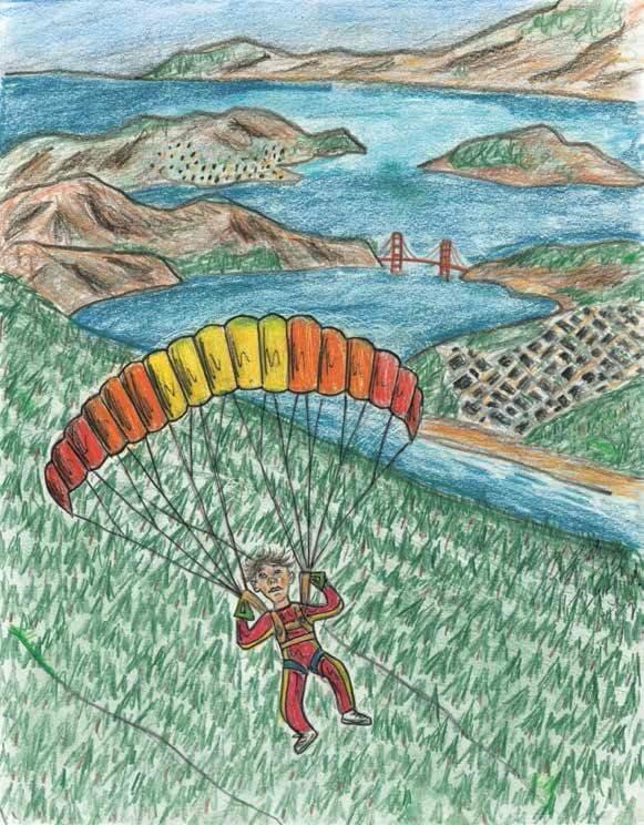 Jump on a parachute