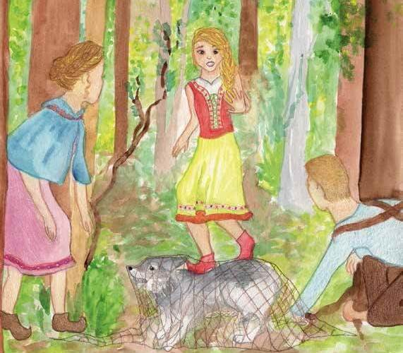 Wild Wolves saving a wolf