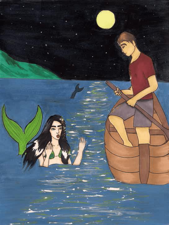 The Songs of Green Waters seeing a mermaid
