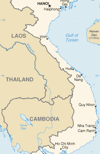 Map of Vietnam