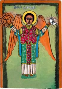 St. Rogawe, by Semachw Messfn, age 10, Ethiopia