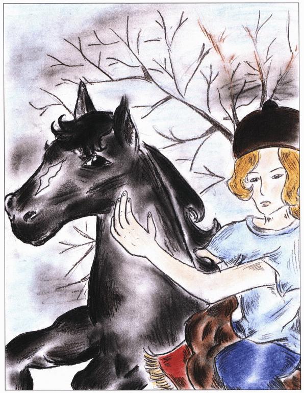 Amy riding a horse