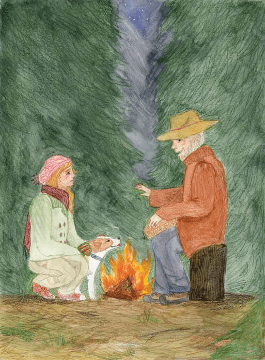 Shadow-Dancing meeting in the woods