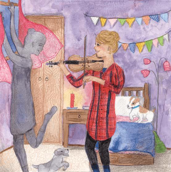 Shadow-Dancing playing violin