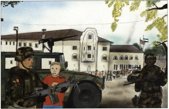 The Bullet boy with the army