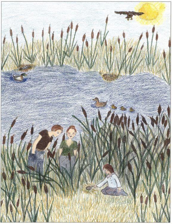 Lizy near the pond