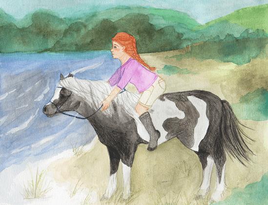 A Horse Named Seamus girl riding a horse