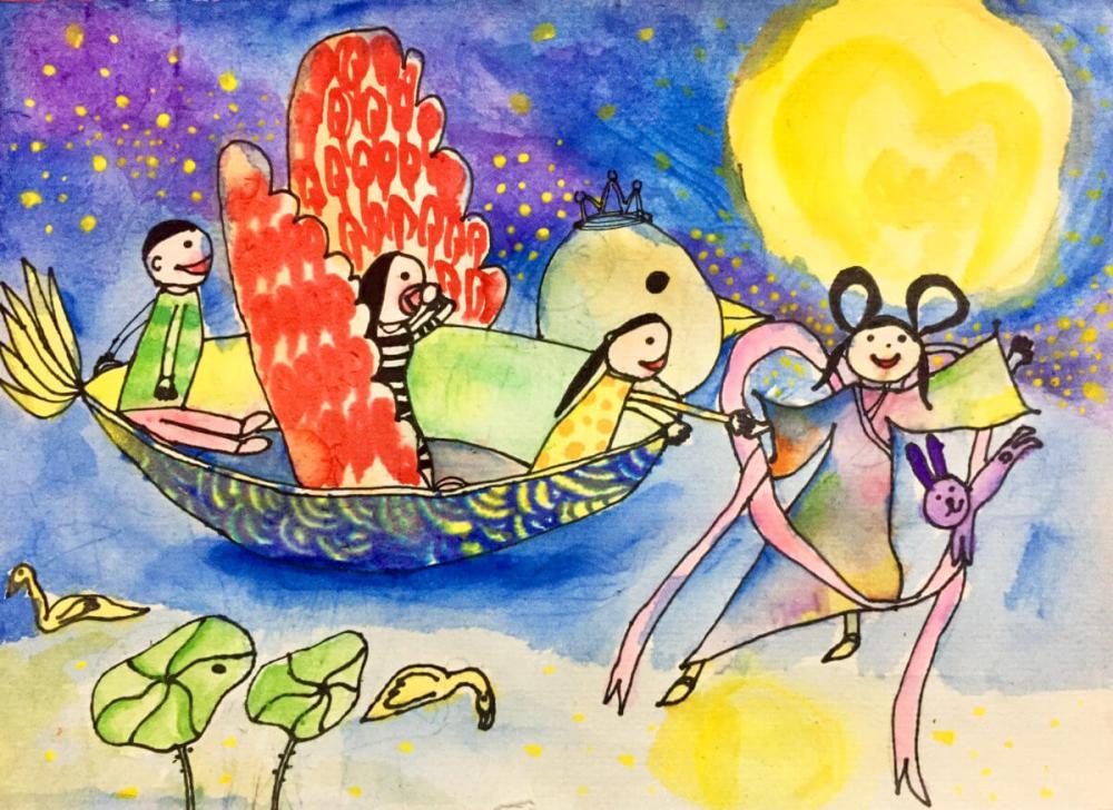 Mid-Autumn Festival watercolor
