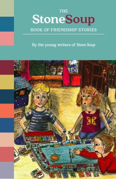 """Cover art: """"Twisted Friendships"""" by Christy Callahan, 13. Illustration for the story published in Stone Soup, May/June 2001."""