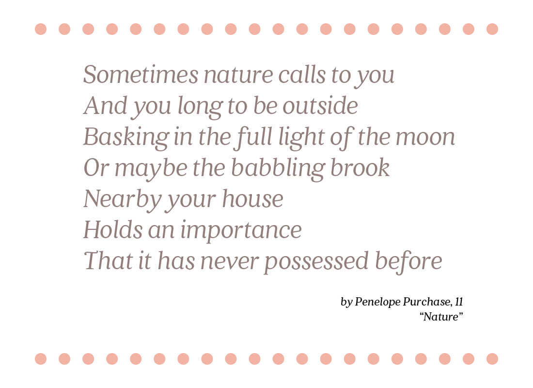 nature poem text