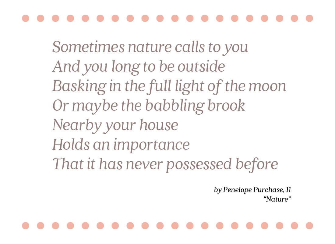 nature poem text