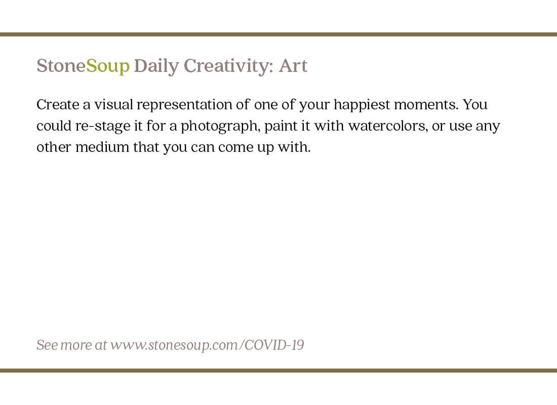 Daily Creativity #10: Create an Art Piece of One of Your Happiest Moments