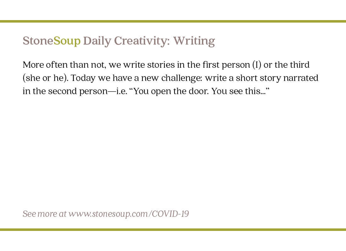 Daily Creativity #12: Write a Story in the Second Person