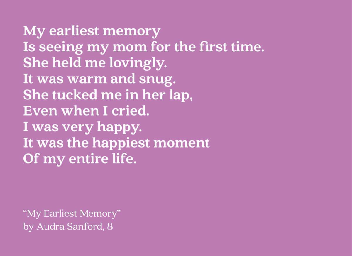 earliest memory